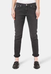 Mud Boyfriend Basin Organic Jeans- Stone Black