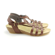 Ambreras Low Wedge - Brown
