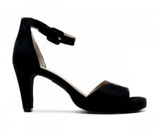 Regina Ankle Strap Heel - Black