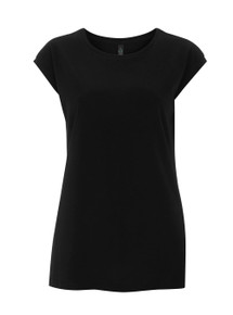 Sleeveless Tencel-Blend Top (Womens) - Black