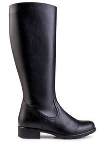 Alicia Grip & Knee Boot - Black