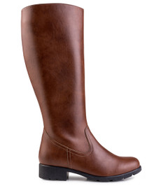 Alicia Grip & Knee Boot - Brown