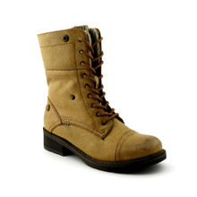 Lined Lace Up Boot - Camel