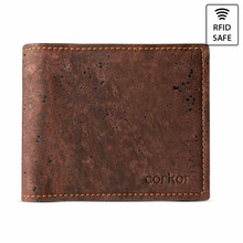 Bifold Credit Card Wallet - Cork (Dark Brown)