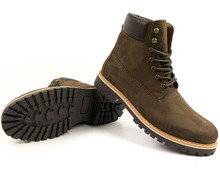 Dock Boots (Mens) - Brown Faux Suede