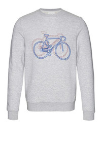Yorick Sweatshirt - Bike on Bike / Grey
