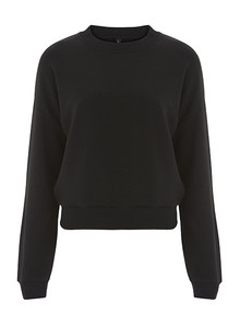Cropped Sweatshirt (Womens) - Black