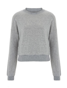 Cropped Sweatshirt (Womens) - Grey