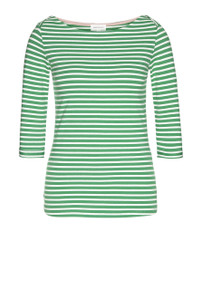 Dalenaa Striped Top - Garden Green