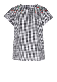 Liorra Vichy Top - Black Gingham