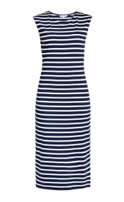 Ameila Stripe Dress - Navy