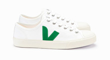Mens Wata Canvas - White / Emerald