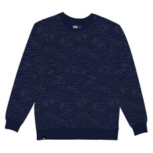 Malmoe Sweater - Japanese Waves / Blue