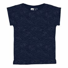 Visby T-Shirt - Japanese Waves / Blue