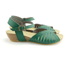 Malaga Low Wedge - Green