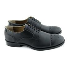 Acre Oak Vegan Brogue Shoe - Black