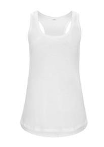 Organic Racerback Vest (Womens) - White
