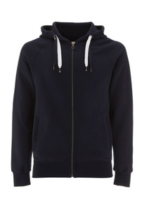 Unisex Organic Zip Up Hoody - Navy