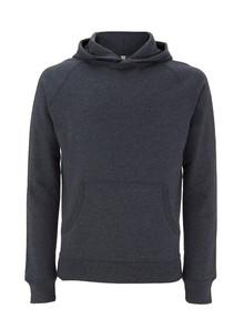 Unisex Recycled Pullover Hoody - Melange Black