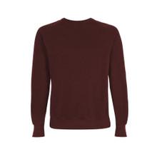 Organic Raglan Sweatshirt - Burgundy
