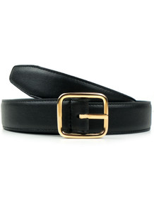 Geometric 3cm Belt - Black