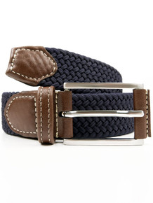 3.5 Woven Belt - Dark Blue