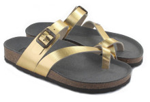 Toe Strap Sandal - Gold
