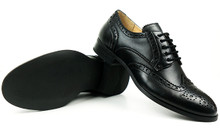 City Wingtip Brogue Oxfords - Black