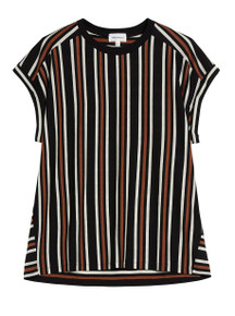 Marthaa Tencel Top - Black / Sandshell