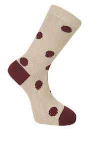 Kusama Socks - Camel / Red (39-41)
