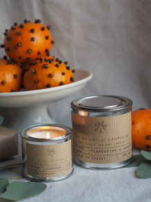 Soy Wax Candle - Utility Tin / Clementine & Clove
