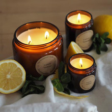 Soy Wax Candle (Large) - Glass Jar / Lemon Verbena