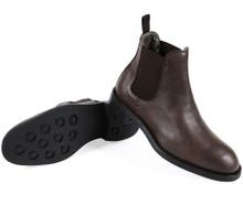 Wills Vegan Waterproof Chelsea Boots (Mens) - Dark Brown