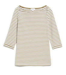Dalenaa Stripes - Off White / Golden Khaki