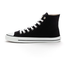 Fair White Cap Hi Cut - Jet Black / White