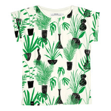 Visby T - Crayon Plants / Off White