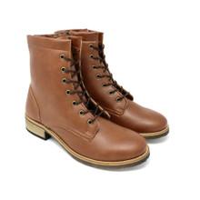 Acre Buckthorn Vegan Boot (side zip) - Chestnut
