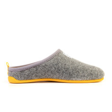 Slipper (Womens) - Light Grey / Yellow