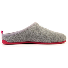 Slipper (Womens) - Light Grey / Magenta
