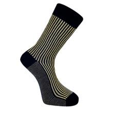 Vertical Stripe Socks - Ink