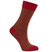 Vertical Stripe Socks - Pepper