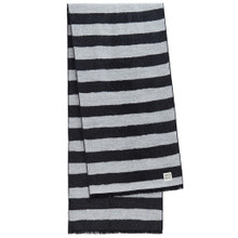 Stripe Scarf- Coal / Warm Sand