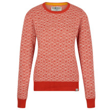 Tara Jumper - Lava & Off White
