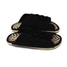 Peeptoe Sandal - Zigzag Black
