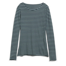 Evvaa Stripe Shirt - Deep Lake / Soft Moss