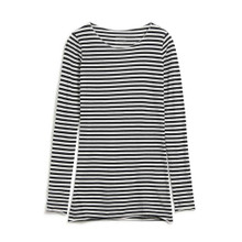 Evvaa Stripe Shirt - Black / Sandshell