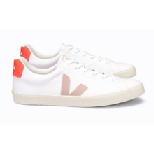 Esplar SE Canvas (Womens) - White / Pale Pink / Fluoro Orange