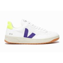 Veja V12 BMesh Vegan Trainer (Womens) - White / Purple / Fluoro Yellow