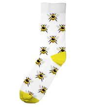 Dedicated Sigtuna Socks Bumblebees - White