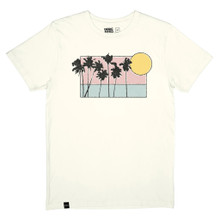 Stockholm T Sunset Palms - White